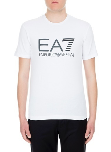EA7 Emporio Armani  T Shirt Erkek T Shırt S 3Gpt01 Pj03Z 1100 Beyaz